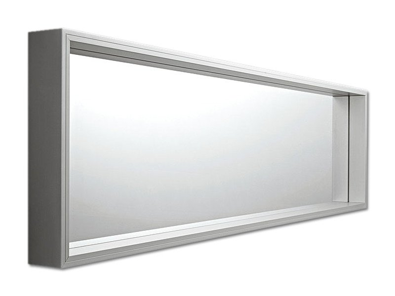 Wall-mounted framed rectangular mirror EXTRA LARGE | Wall-mounted mirror by Kristalia