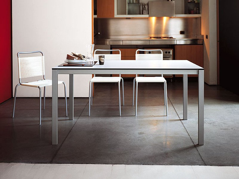 Extending laminate table EASY | Steel table by Kristalia