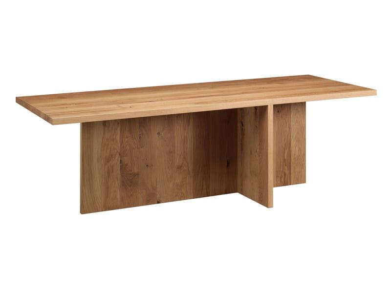 Rectangular oak table ZEHN by e15