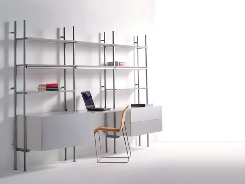 Wall-mounted shelving unit with drawers CRISTALINA | Shelving unit with drawers by BD Barcelona Design