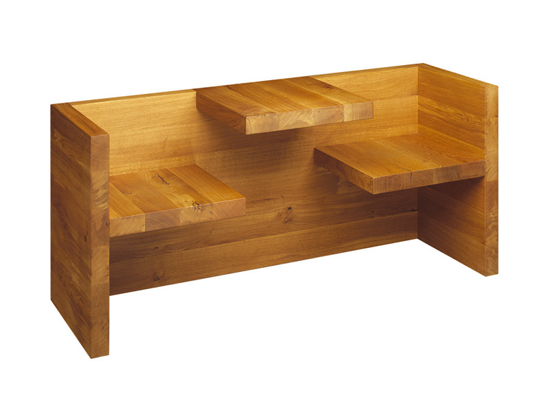 Solid wood Kids bench with back TAFEL CHILDREN by e15