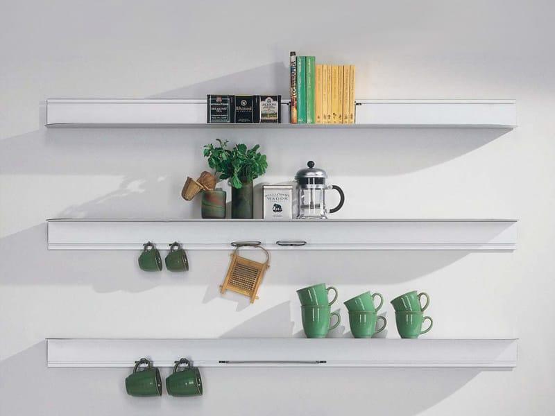 Wall-mounted aluminium bookcase PHANTASMA by BD Barcelona Design
