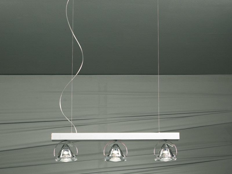 Crystal pendant lamp WEDGE 3 L | Pendant lamp by Lucente