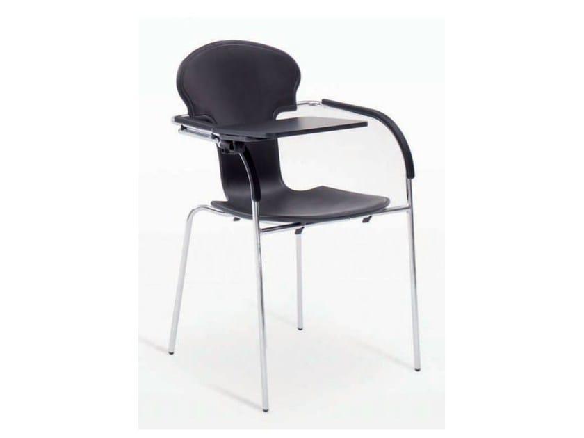 Polypropylene training chair with writing tablet MINIVARIUS | Training chair with writing tablet by BD Barcelona Design