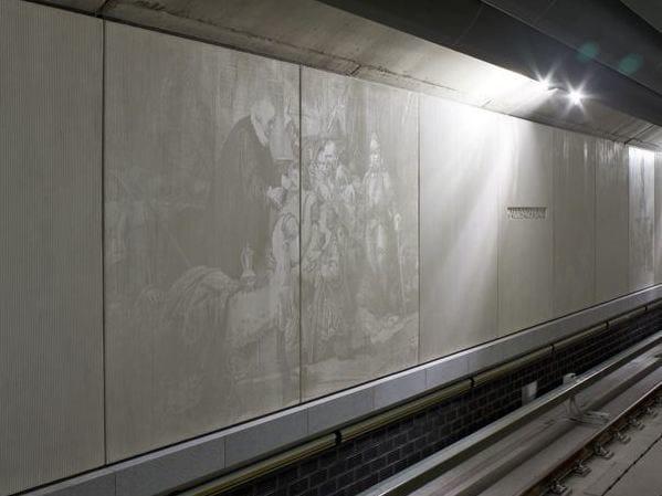 RECKLI® FOTO-INCISIONE Fermata della metropolitana