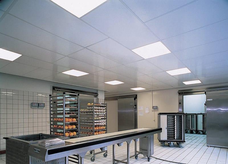 Acoustic ceiling tiles for healthcare facilities Rockfon® Royal™ Hygiène by ROCKFON
