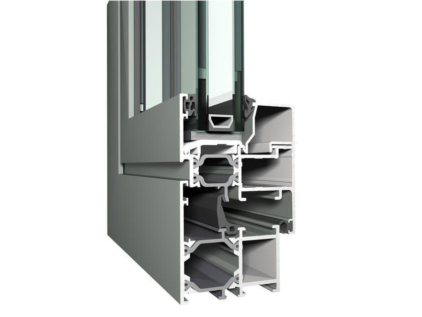 Sistema in alluminio per finestre e porte a battente Eco System 50 by Reynaers Aluminium