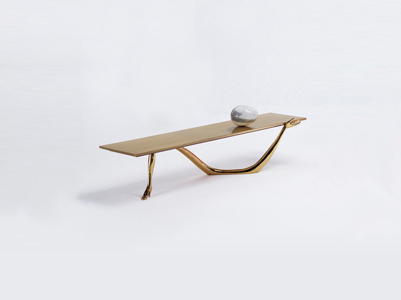 Low brass coffee table LEDA | Coffee table by BD Barcelona Design