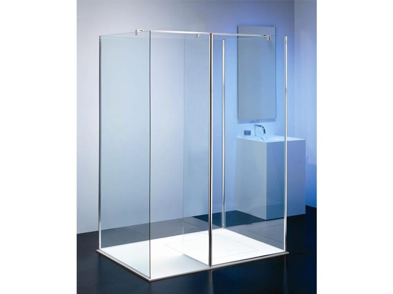 Cabine de douche ilôt en verre MODULA MX-2 by Provex Industrie