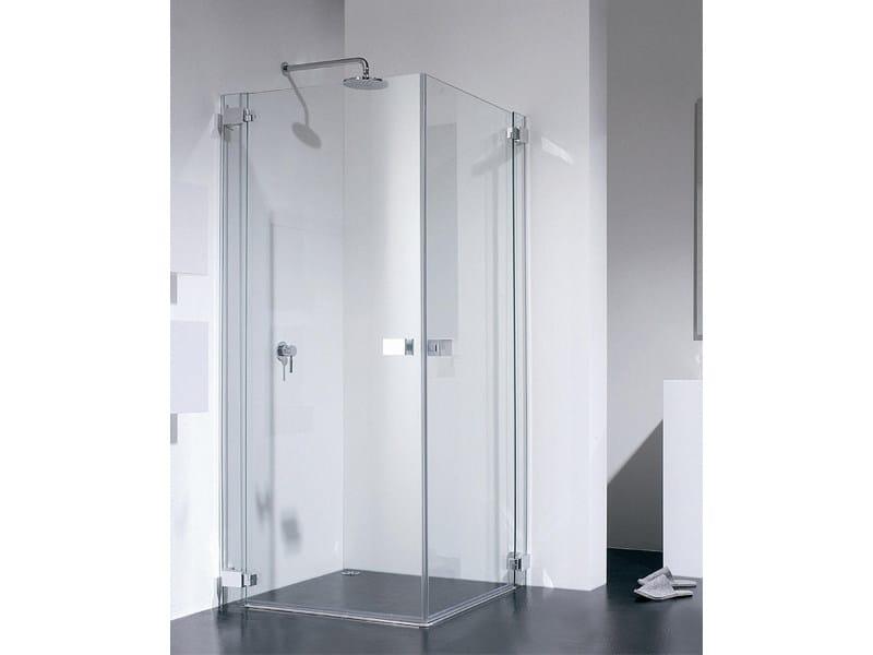 Corner glass shower cabin E-LITE ET by Provex Industrie