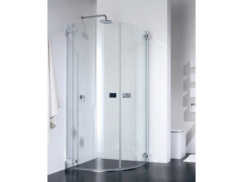 Semicircular glass shower cabin E-LITE ER by Provex Industrie