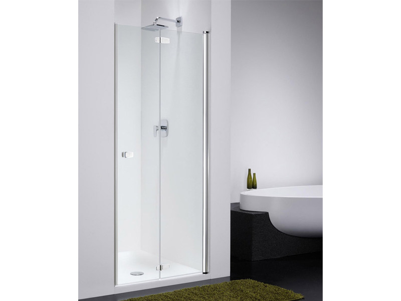 Glass shower cabin with folding door COMBI CF by Provex Industrie