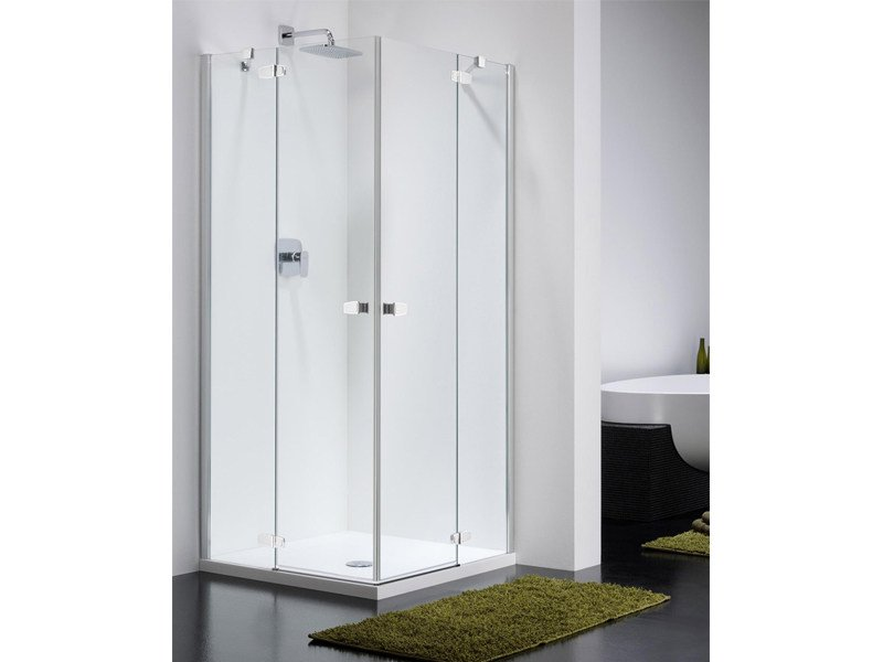 Corner glass shower cabin COMBI CT by Provex Industrie
