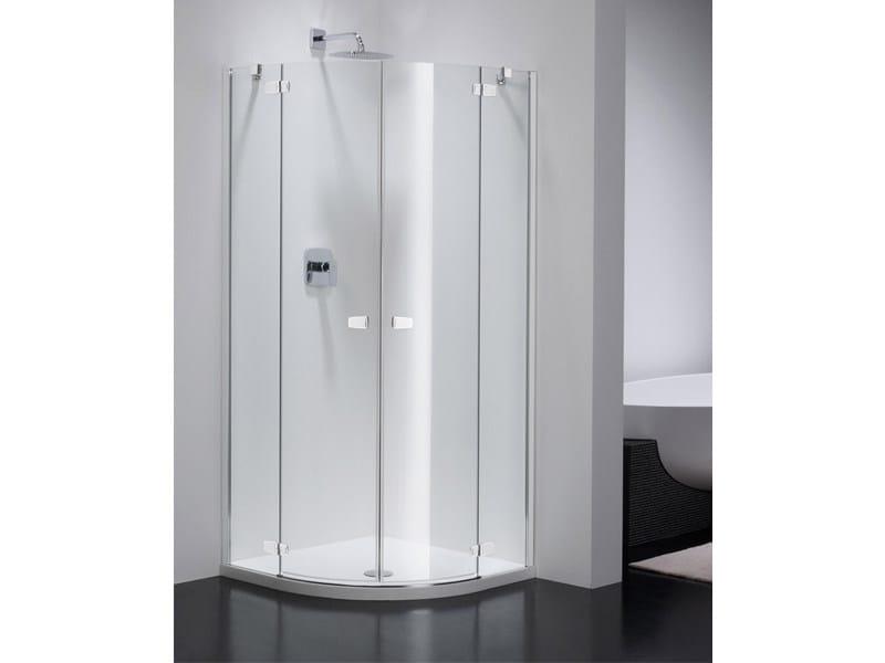 Semicircular glass shower cabin COMBI CR by Provex Industrie