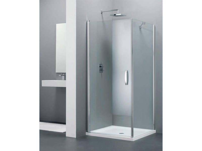 Corner glass shower cabin ELEGANCE TE + WE by Provex Industrie