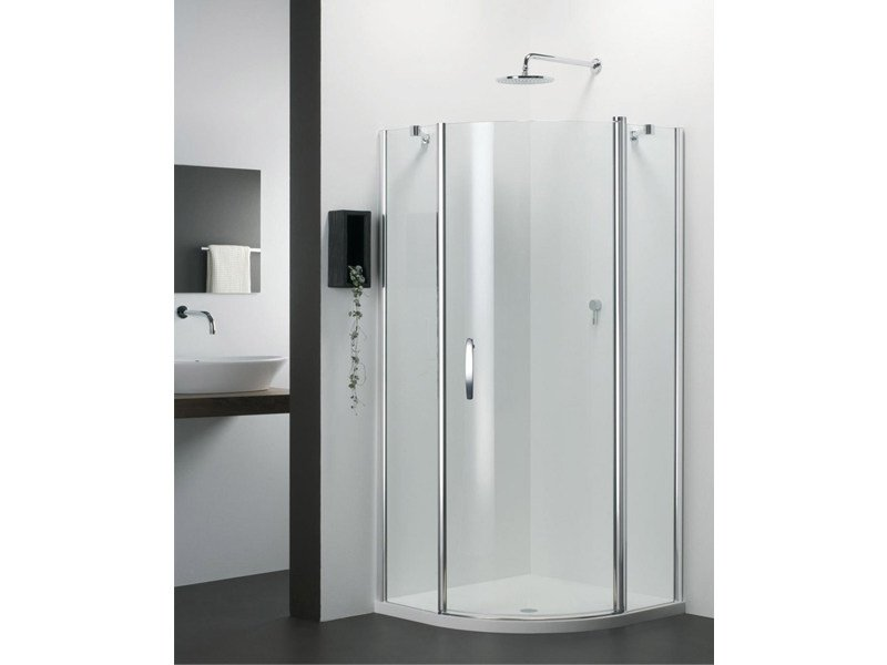 Semicircular glass shower cabin VARIO QS by Provex Industrie