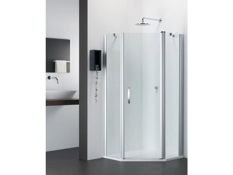 Corner glass shower cabin VARIO FV by Provex Industrie