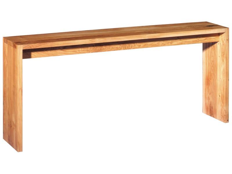 Rectangular wooden console table ALTO by e15