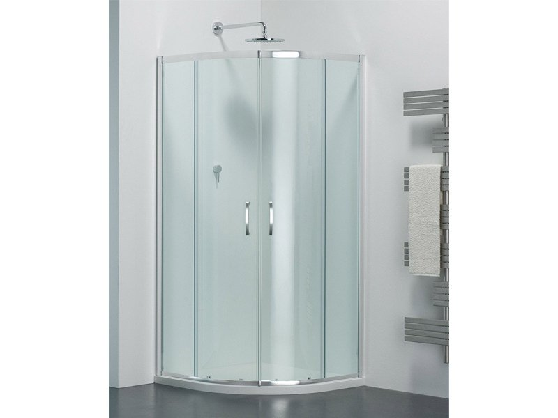 Semicircular glass shower cabin with sliding door ARCO AR by Provex Industrie