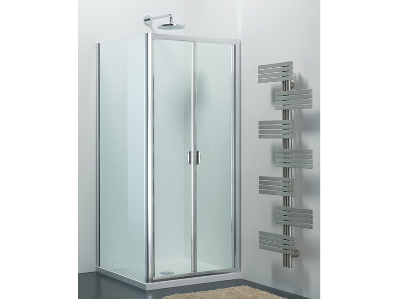 Glass shower cabin with folding door ARCO SF + WD by Provex Industrie