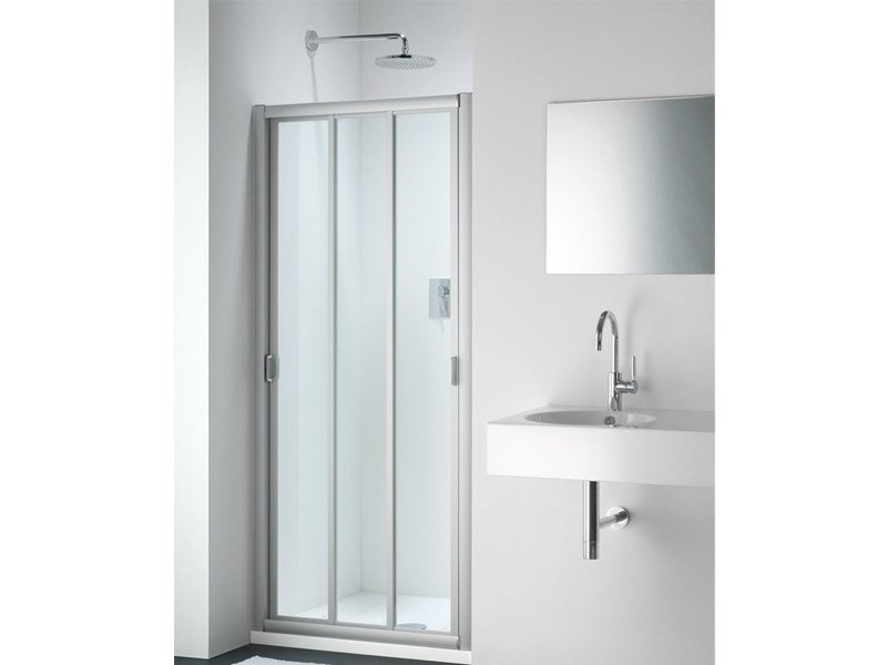 Glass shower cabin with sliding door CLASSIC FC by Provex Industrie