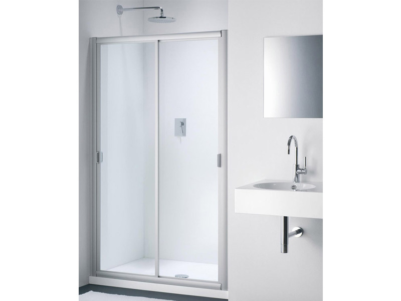 Glass shower cabin with sliding door CLASSIC NC by Provex Industrie