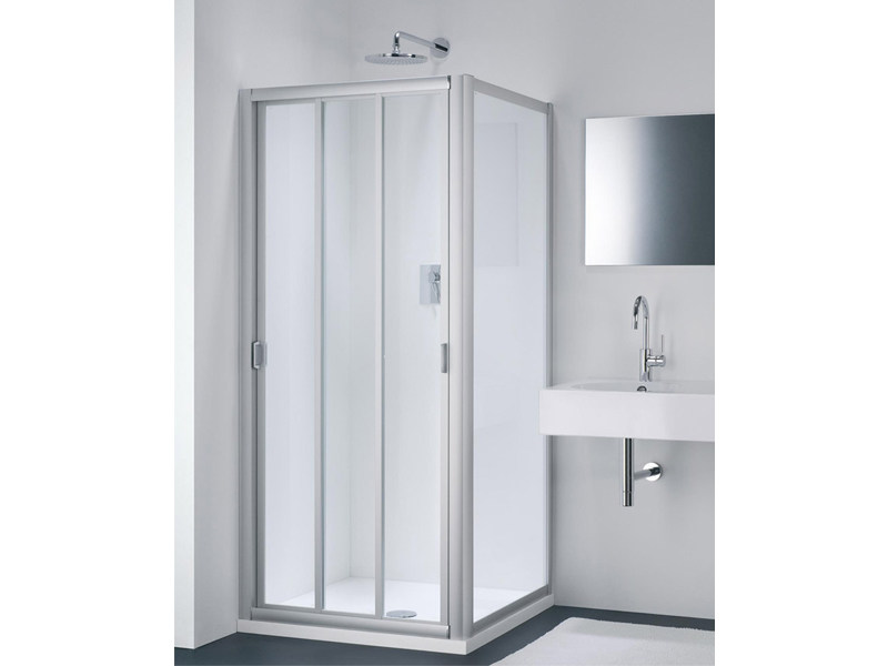 Glass shower cabin with sliding door CLASSIC FC + WC by Provex Industrie