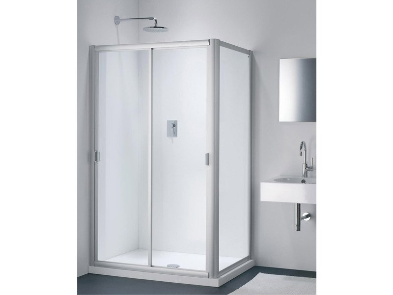 Glass shower cabin with sliding door CLASSIC NC + WC by Provex Industrie