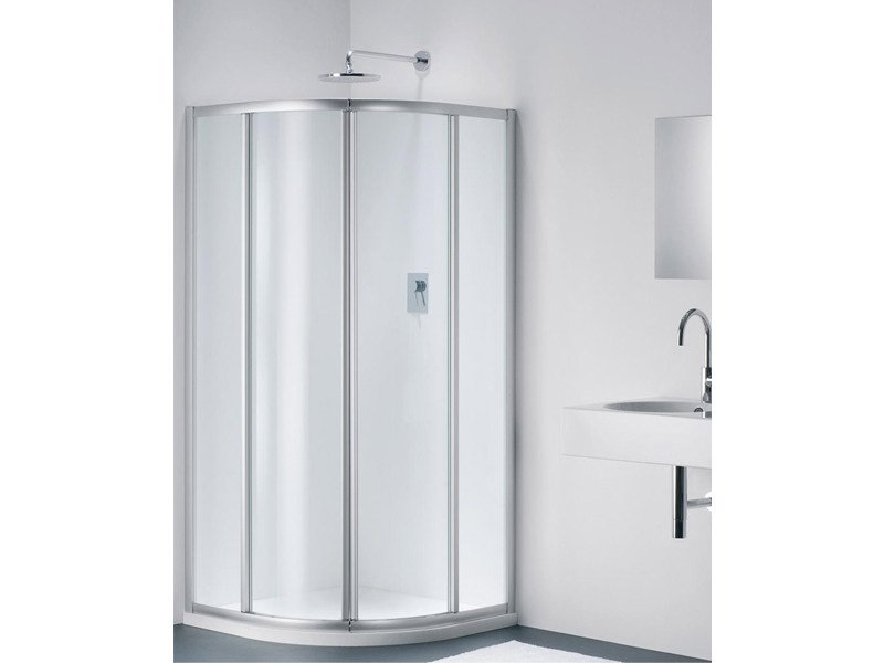Semicircular glass shower cabin CLASSIC RC by Provex Industrie