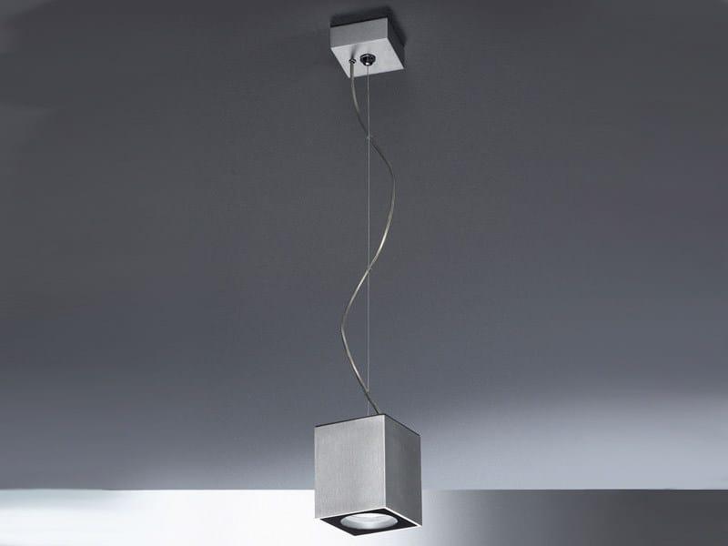 Painted metal pendant lamp CU-BIC | Pendant lamp by Lucente