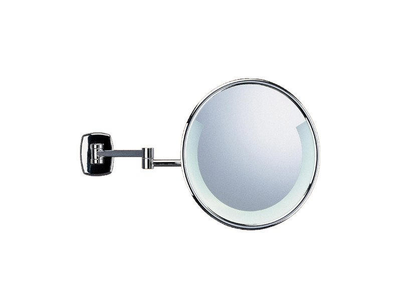 Wall-mounted shaving mirror with integrated lighting CLASSIC LIGHT | Shaving mirror by Provex Industrie
