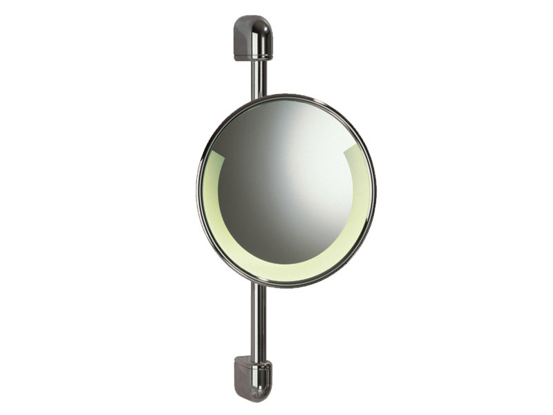 Wall-mounted shaving mirror with integrated lighting RELAX RE 01 by Provex Industrie