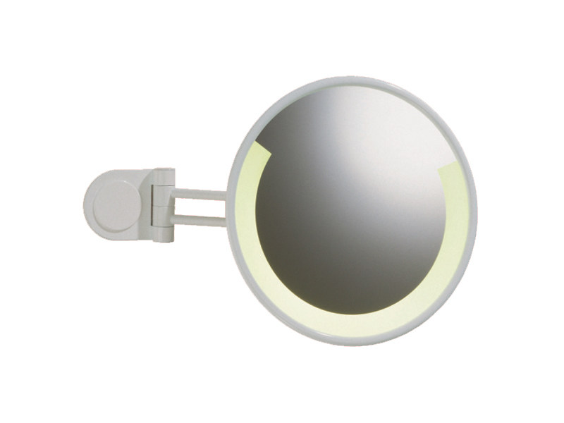 Wall-mounted shaving mirror with integrated lighting RELAX RE 02 by Provex Industrie