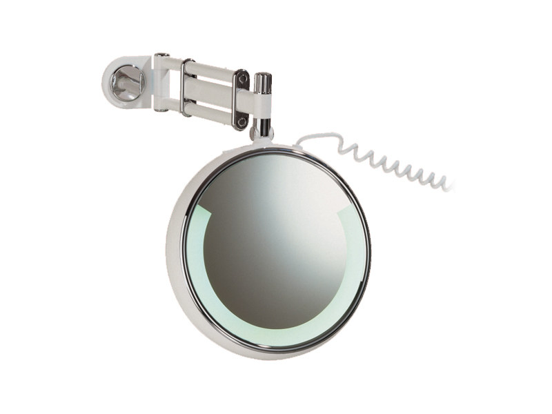 Wall-mounted shaving mirror with integrated lighting RELAX RE 03 by Provex Industrie