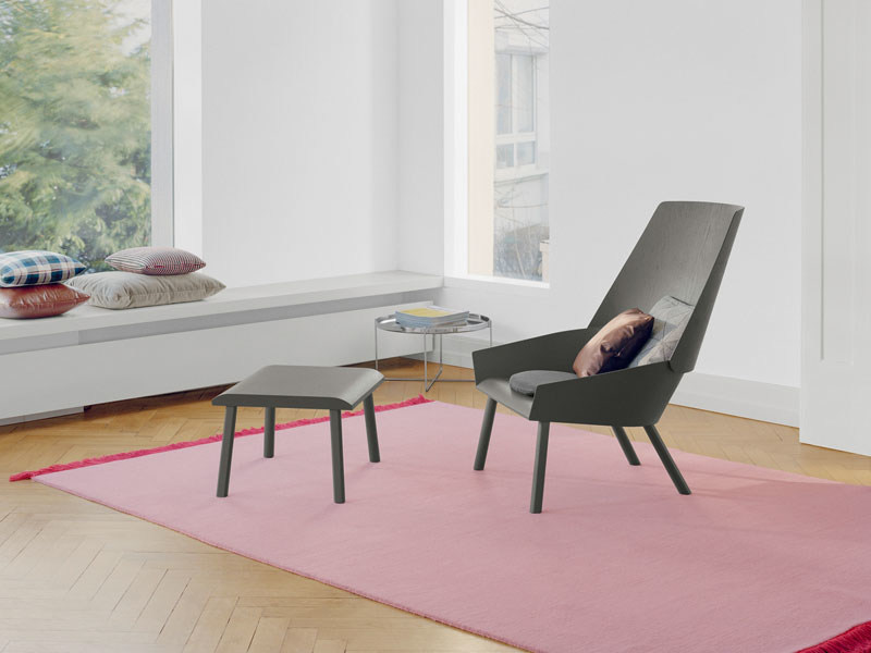 Solid-color wool rug KAVIR by e15