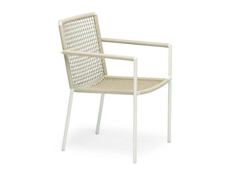 Stackable garden chair with armrests LODGE   Garden chair by FISCHER MÖBEL