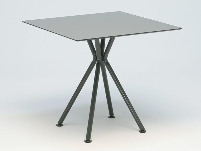 Square aluminium garden table NIZZA   Square table by FISCHER MÖBEL