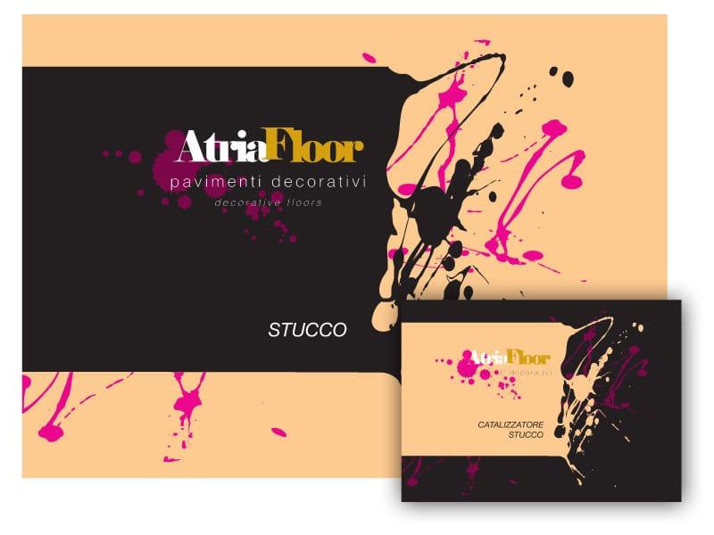 Gypsum and decorative plaster ATRIAFLOOR STUCCO by COLORIFICIO ATRIA