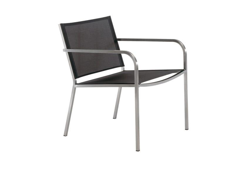 Textilene garden armchair with armrests HELIX   Garden armchair by FISCHER MÖBEL