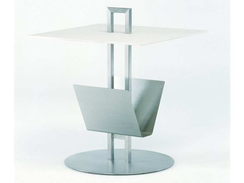 Square fm-ceramtop garden side table HELIX | Square coffee table by FISCHER MÖBEL