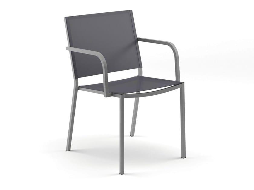 Stackable garden chair with armrests ADRIA | Garden chair by FISCHER MÖBEL