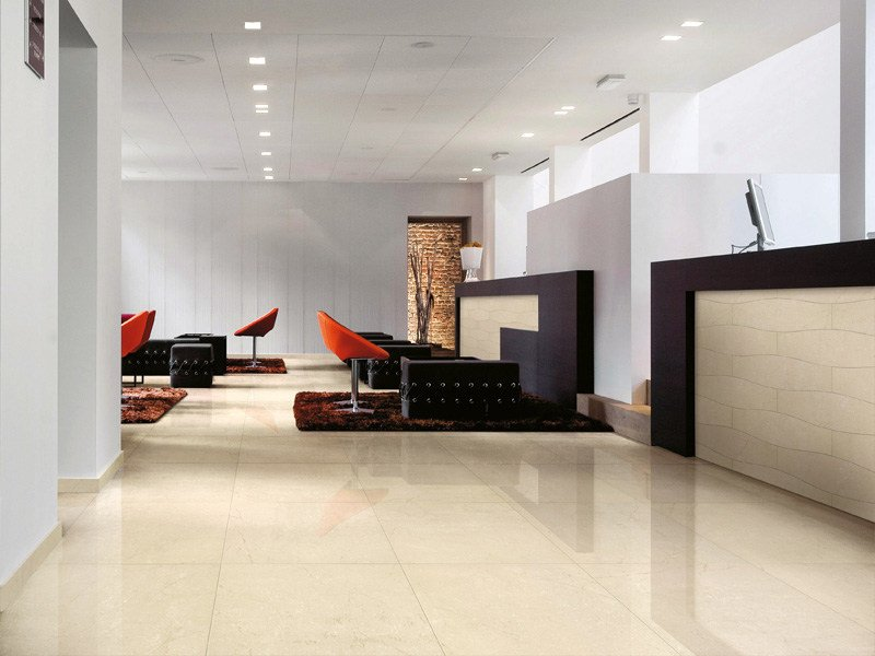 Porcelain stoneware wall/floor tiles with marble effect MARMOGRES by Casalgrande Padana