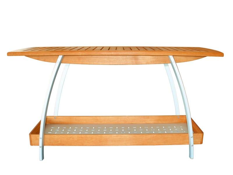 Teak garden side table CENTRO | Garden side table by FISCHER MÖBEL