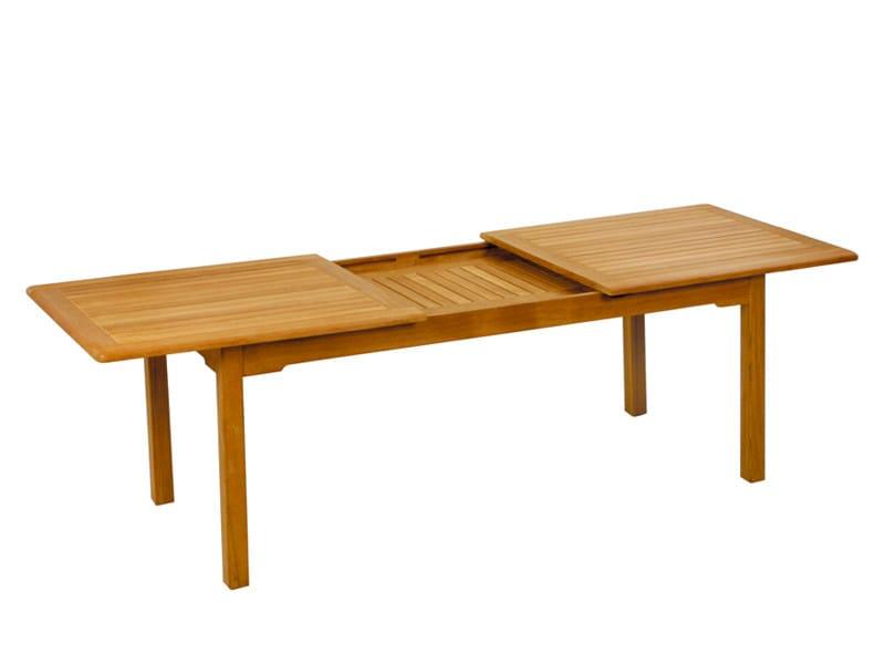 Extending teak garden table BURMA   Garden table by FISCHER MÖBEL