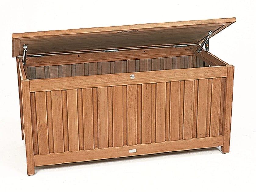 Teak garden storage box CUSHION BOX | Teak storage chest by FISCHER MÖBEL