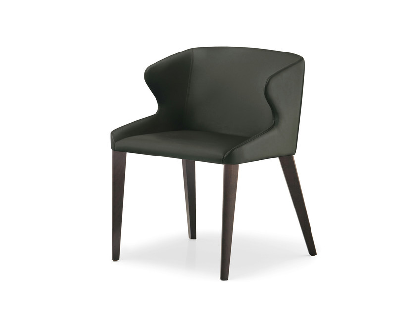 Leather easy chair LEILA | Easy chair by PEDRALI