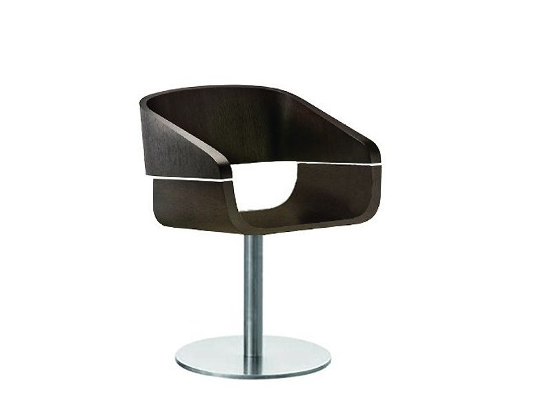 Swivel wooden chair APPLE | Swivel chair by PEDRALI