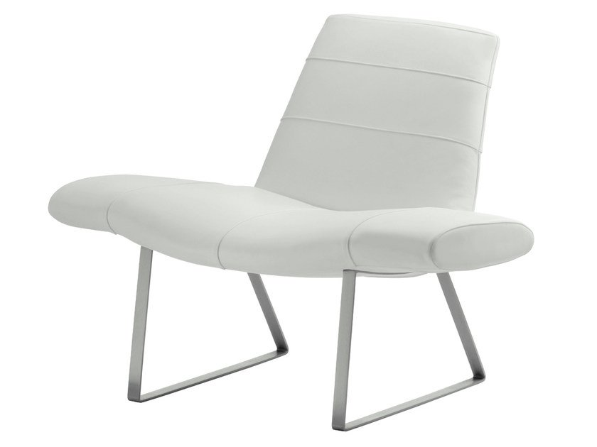 Leather armchair MIES by PEDRALI