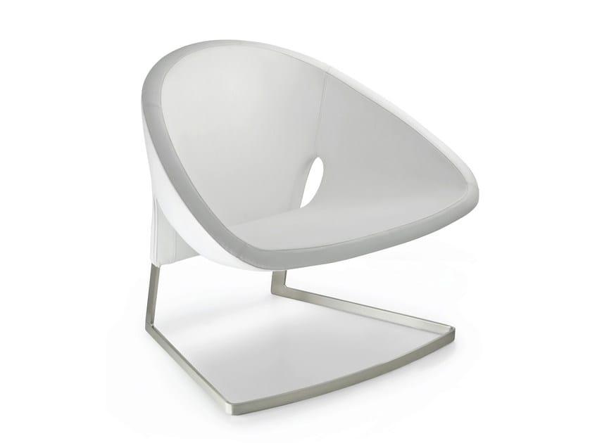 Upholstered easy chair JOKER by PEDRALI