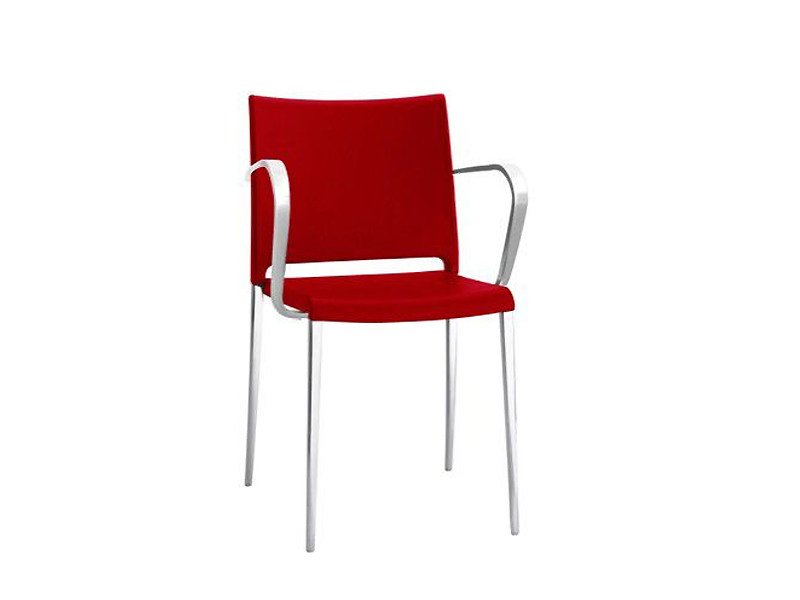 Aluminium chair MYA SOFT | Chair with armrests by PEDRALI